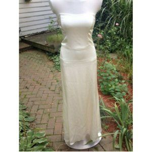 Nicole Miller Ivory Silk Gown